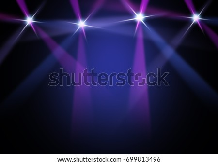 The concert on stage background with flood lights   #699813496