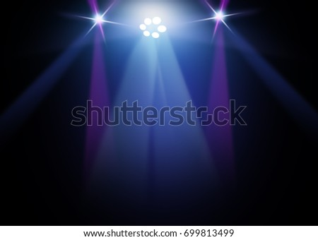 The concert on stage background with flood lights   #699813499
