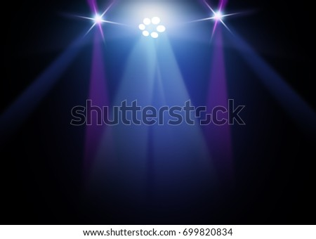 The concert on stage background with flood lights   #699820834