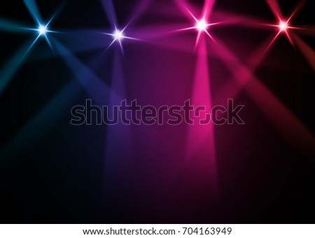 The concert on stage background with flood lights   #704163949