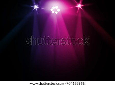 The concert on stage background with flood lights   #704163958