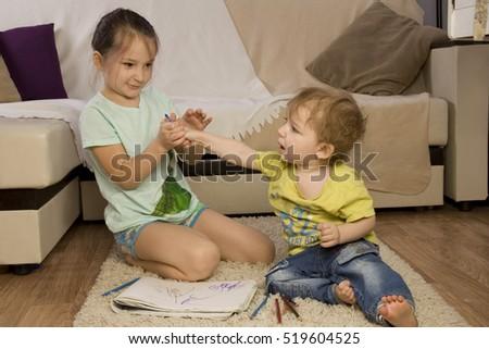 Girls giving a tickling hand job