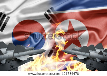 The confrontation between South Korea and North Korea