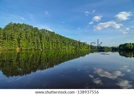 The Connecticut River on a Beautiful Summer Day