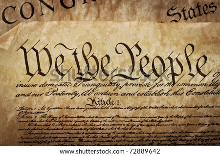 The Constitution for the United States of America - stock photo