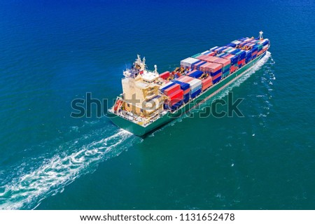 The Container Ship Sailing.