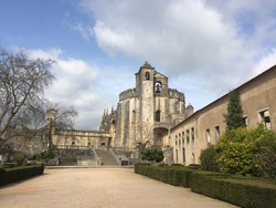 The Convent of Christ in Tomar, Portugal. Former Templar knights Stronghold and UNESCO world heritage site.
