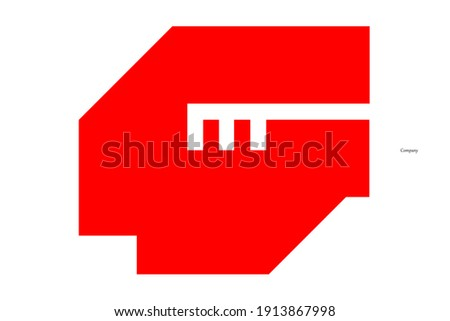 The cool logo combines the letters G and m in bright red and a little white. Stock fotó ©