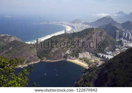 The Copacabana beach seen from the sugar loaf