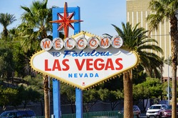 The copyright free Las Vegas welcome sign