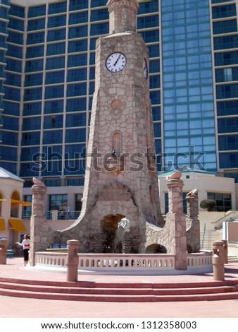 The Coquina Clock Tower In Daytona Beach's Oceanfront Park