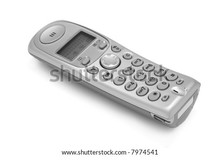 The cordless phone isolated at the white background