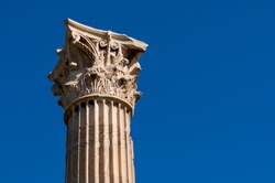 The Corinthian-style Temple of Jupiter in the Olympieion archaeological area of Athens