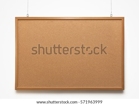 The cork-board on white background Foto d'archivio ©
