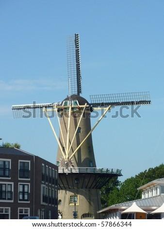 The corn mill of Hellevoetsluis in the Netherlands
