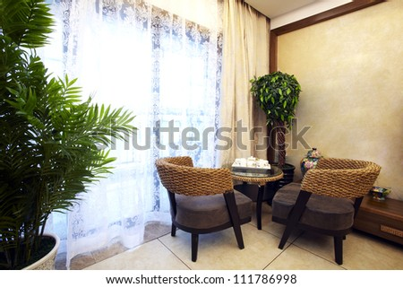 The corner of Chinese living room