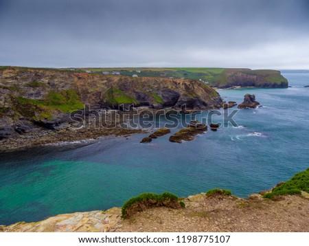 The Cornish Coast at Portreath in Cornwall England