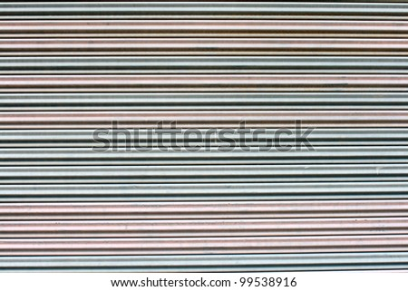 The corrugated metal sheet background
