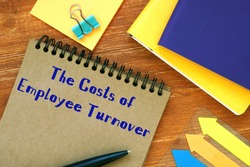 The Costs of Employee Turnover phrase on the sheet.