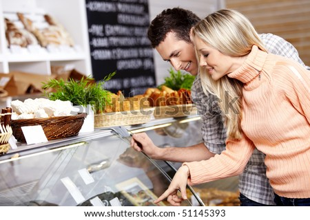 The couple specifies in purchase in shop