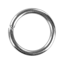 The coupling ring closeup for needlework isolated on white background