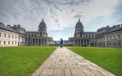 The court of Old Royal Naval College in Greenwich, London