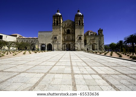 The courtyard in front of Santa Domingo often is crowded with people even during the early hours of the day.