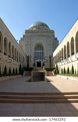 The courtyard of the Australian War Memorial in Canberra, Australian Capital Territory, Australia