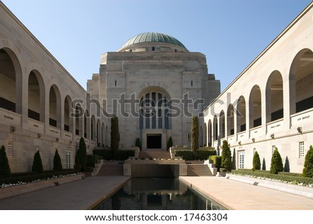 The courtyard of the Australian War Memorial in Canberra, Australian Capital Territory, Australia