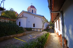 the courtyard of the Monastery of St. Nicholas Miracle, in Arbanasi, Veliko Tarnovo, Bulgaria