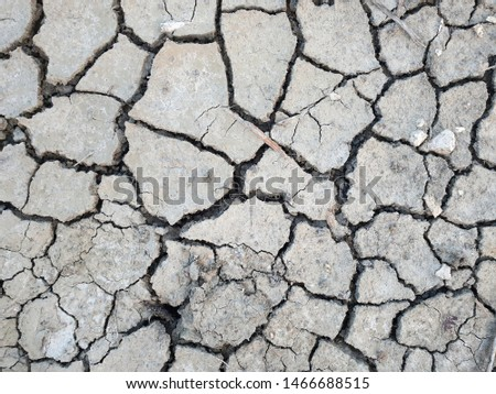 The cracked ground, Ground in drought, Soil texture and dry mud, Dry land. #1466688515
