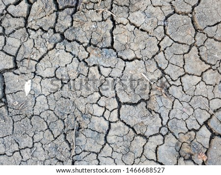 The cracked ground, Ground in drought, Soil texture and dry mud, Dry land. #1466688527