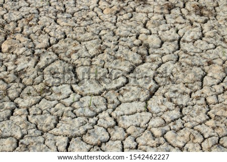 The cracked ground, Ground in drought, Soil texture and dry mud, Dry land.