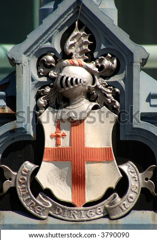 The crest of the City of London, England.