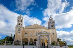 The cristian church of Agia Triada in the traditional village  lefkes Paros island, Greece