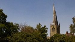 The Crooked Spire, Chesterfield Derbyshire. St Mary's Parish Church. Leaning 9 foot, Chesterfield's Crooked Spire is a sight to be seen. Taken on a glorious summers day.