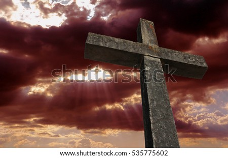 The cross before the sky Stock photo ©