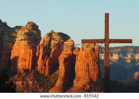 The Cross Over Red Rocks