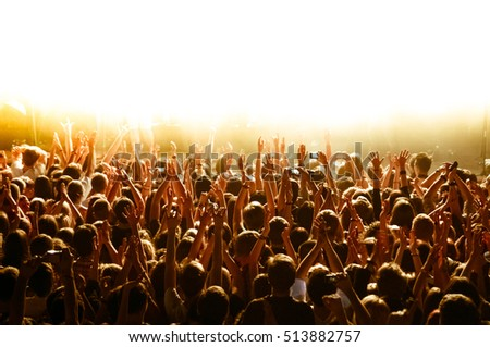 The crowd during concert at the club #513882757