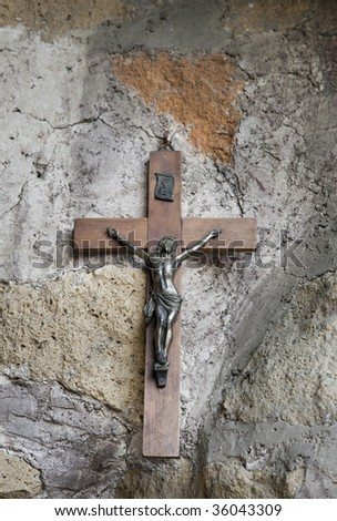 The Crucifix in a small chapel in Rome.