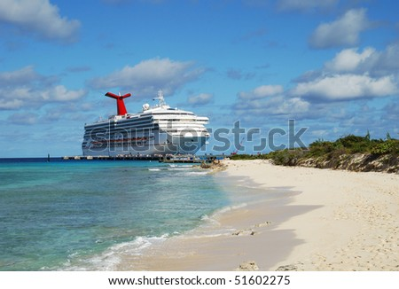 The cruise liner arrived to Grand Turk island (Turks & Caicos).