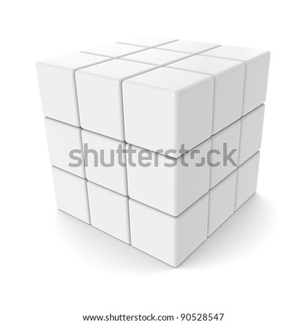 The Cube. A sparse Cube. All White