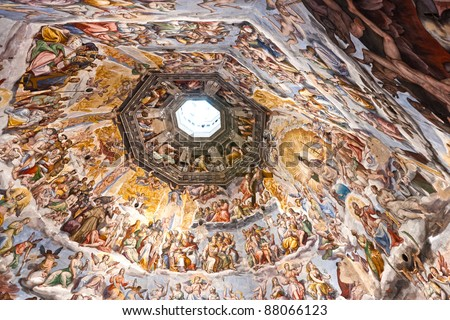 The Cupola of Duomo of Florence. Tuscany, Italy.