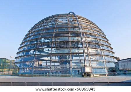 The Cupola on top of the Reichstag building in Berlin #58065043
