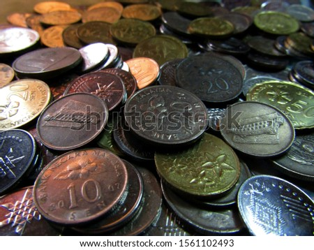 The currency of Malaysian coins.