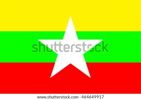 The current flag of Myanmar was adopted on 21 October 2010 to replace the former flag in use since 1974. The new flag was introduced along with implementing changes to the country's name.