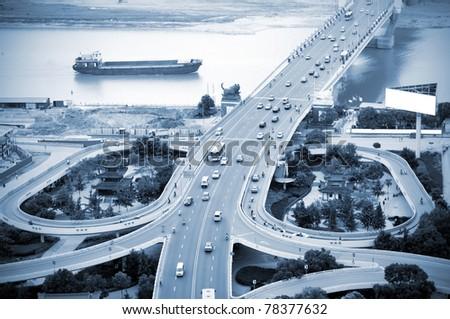 The curve of the eye bridge winding