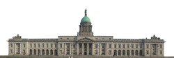The Custom House isolated on white background. It is a neoclassical 18th century building in Dublin, Ireland which houses the Department of Housing, Planning and Local Government