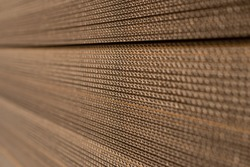 The cut corrugated cardboard for making boxes.