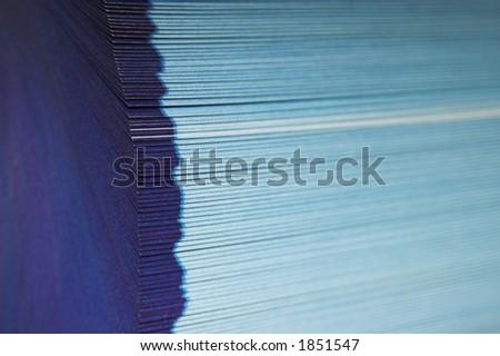 Páginas ventiladas - 2 - a cara de corte de um diretório de telefonecom páginas ventiladas.